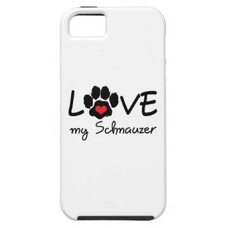 LOVE MY SCHNAUZER iPhone 5 CASES