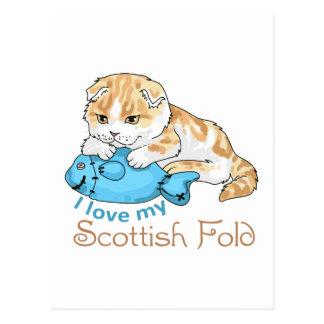 LOVE MY SCOTTISH FOLD POST CARD