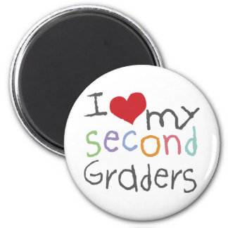 Love My Second Graders 2 Inch Round Magnet