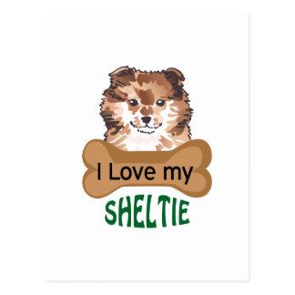 Love My Sheltie Postcard