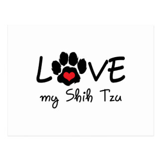 LOVE MY SHIH TZU POSTCARD