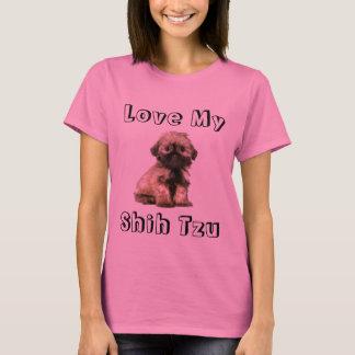 Love My Shih Tzu Puppy Dog Tee Shirt