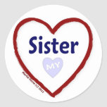 Love My Sister Stickers