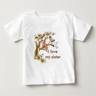 Love my Sister with Victorian Girls Infant T-shirt