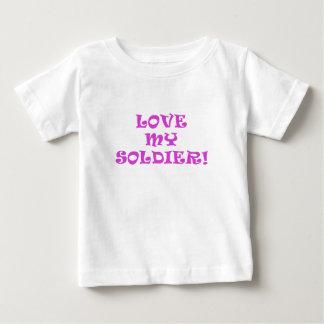 Love My Soldier Baby T-Shirt