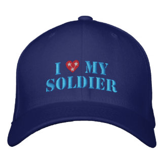 Love My Soldier Embroidered Baseball Cap