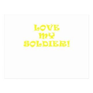 Love My Soldier Postcard