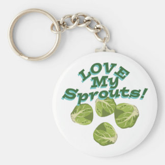 Love My Sprouts Basic Round Button Keychain