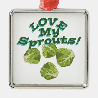 Love My Sprouts Metal Ornament