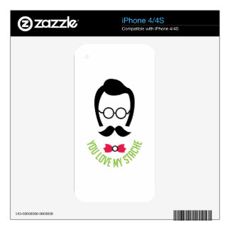 Love My Stache Decals For iPhone 4