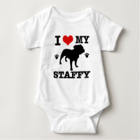 Love my staffy baby bodysuit