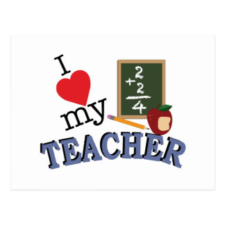 Love My Teacher Postcard