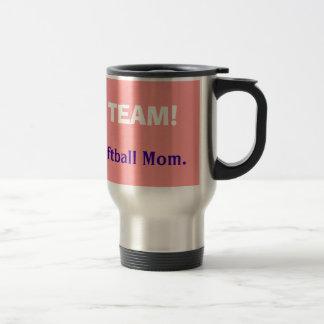 Love My Team Coffe Mugs Loudest Softball Mom