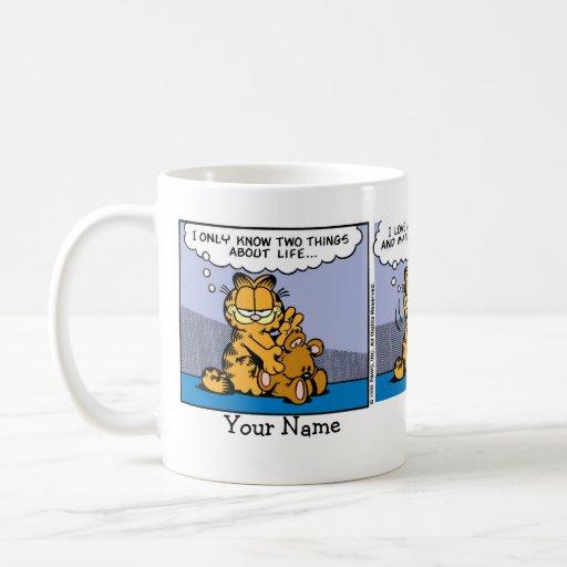 """Love My Teddy Bear"" Garfield Comic Strip Coffee Mug"