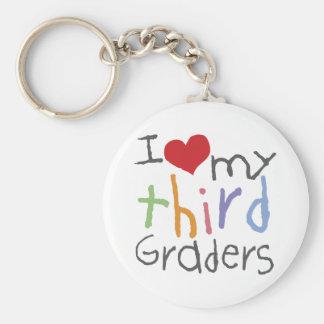 Love My Third Graders Basic Round Button Keychain