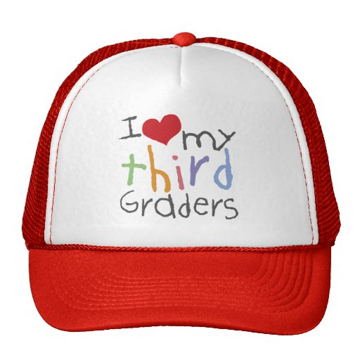 Love My Third Graders Hats