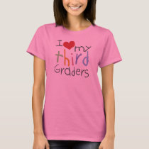 Love My Third Graders Ladies Long Sleeve T-Shirt