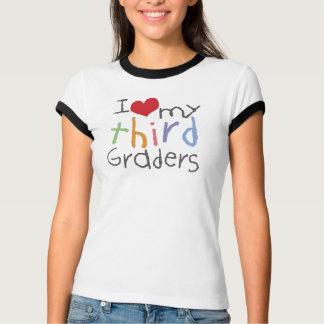 Love My Third Graders Ladies Ringer T-Shirt
