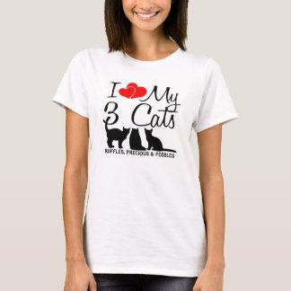 Love My THREE Cats T-Shirt