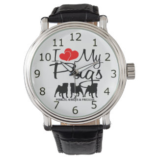 Love My THREE Pugs Wristwatch