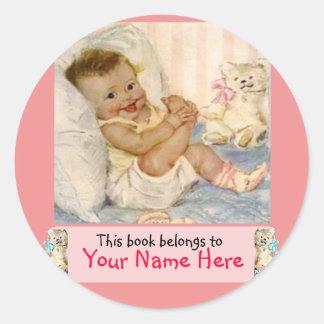 Love My Toes Bookplate Girl Sticker