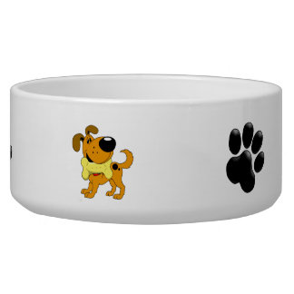 Love My Treats! with PawPrint Dog Bowl