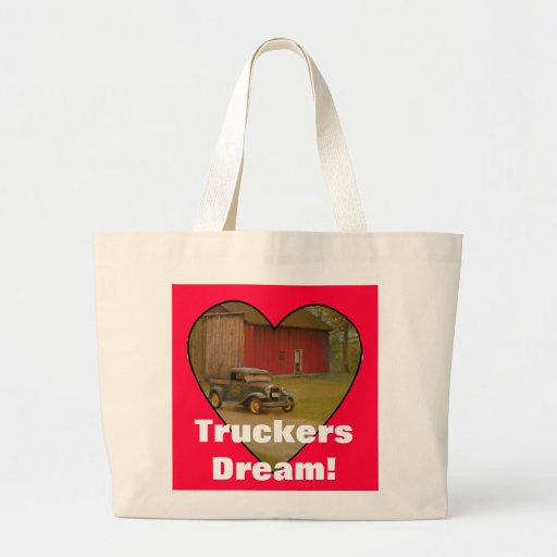 Love My Truck Merchandise Large Tote Bag
