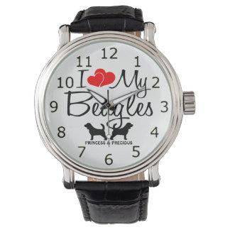 Love My Two Beagles Wristwatch