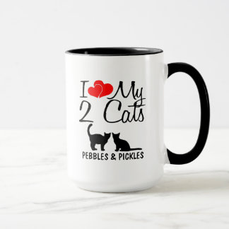 Love My TWO Cats Mug