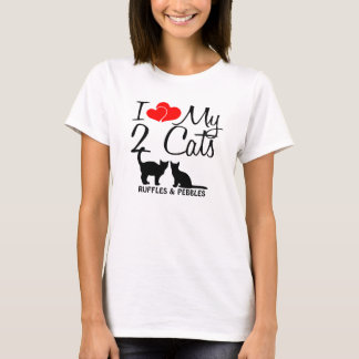 Love My TWO Cats T-Shirt
