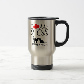 Love My TWO Cats Travel Mug