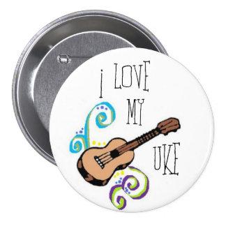 Love My Uke Pinback Button