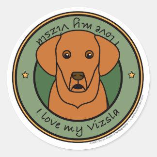 Love My Vizsla Classic Round Sticker