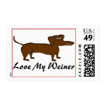 Love My Weiner Dog Gifts and Apparel Stamp