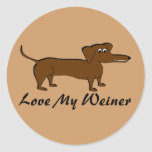 Love My Weiner Dog Gifts and Apparel Stickers