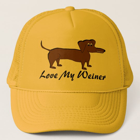 Love My Weiner Dog Gifts and Apparel Trucker Hat