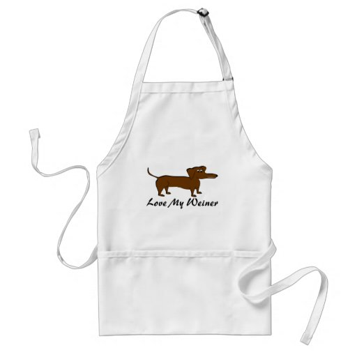 Love My Weiner Dog Products Apron