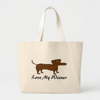 Love My Weiner Dog Products Large Tote Bag