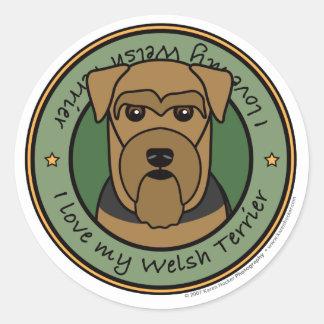 Love My Welshie Classic Round Sticker