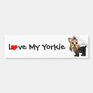 Love My Yorkshire Terrier Car Bumper Sticker