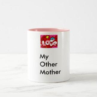 Love, MyOtherMom Two-Tone Coffee Mug
