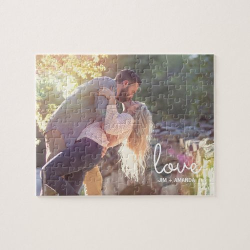 Love Names Engagement Photo Jigsaw Puzzle