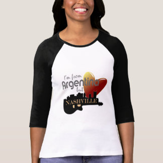 Love Nashville from Argentina 3/4 Sleeve T-Shirt