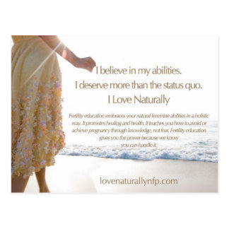 Love Naturally Card Postcard