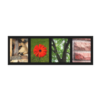 Love Nature Elements Creative Mounted Canvas Print