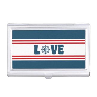 Love nautical design business card holder