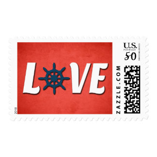 Love nautical design postage