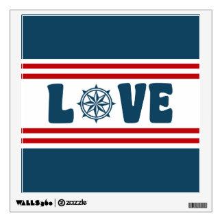 Love nautical design wall sticker