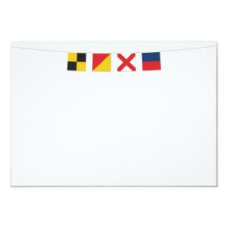 LOVE Nautical Flags Recipe Card 3
