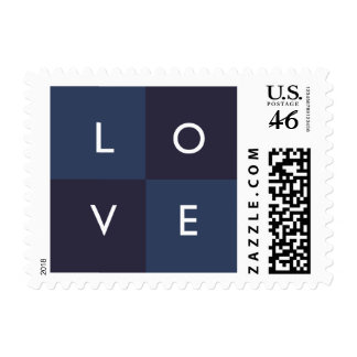 LOVE - navy Postage Stamp